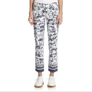 Tory Burch | Ivory Frenesi Cropped Jeans